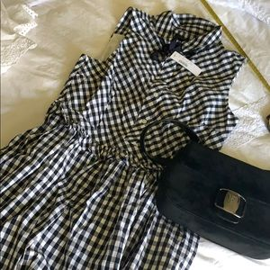 J Crew Gingham dress New with Tag